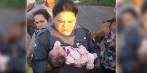 Morador encontra bebê em região de mata, mas é o que tem em seu corpo que o assusta