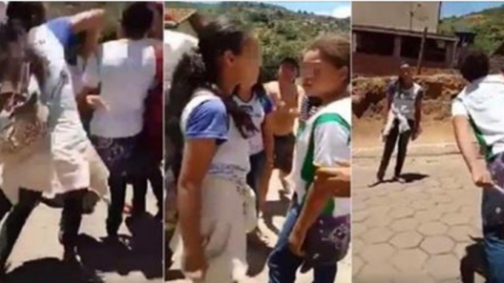 Garota leva soco no rosto e deixa agressora sem reação apenas com suas palavras; Vídeo
