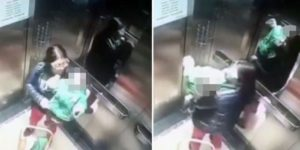Mãe se despede de bebê só para ver o que babá fazia com ele em elevador