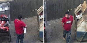 Pai joga filha doente em contêiner de lixo. Só não sabia que tudo estava sendo gravado