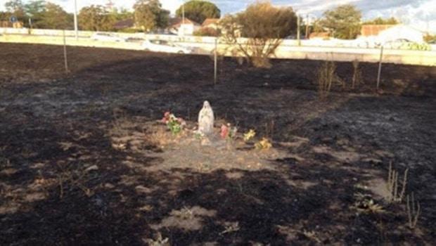 Milagre! Imagem da Virgem Maria continuou intacta ao fogo violento em uma base militar na Espanha