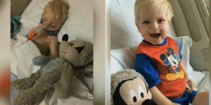 Dylan, 2 anos, estado terminal, à beira da morte. Último tratamento batismo. Então….