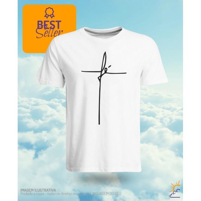 Camiseta escrito fé